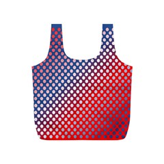 Dots Red White Blue Gradient Full Print Recycle Bags (s)  by BangZart
