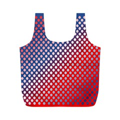 Dots Red White Blue Gradient Full Print Recycle Bags (m)  by BangZart