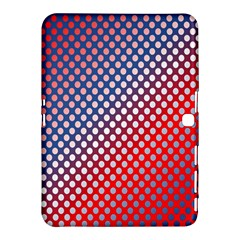 Dots Red White Blue Gradient Samsung Galaxy Tab 4 (10 1 ) Hardshell Case