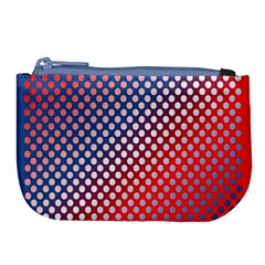 Dots Red White Blue Gradient Large Coin Purse