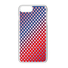 Dots Red White Blue Gradient Apple Iphone 7 Plus Seamless Case (white)