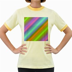 Background Course Abstract Pattern Women s Fitted Ringer T-shirts