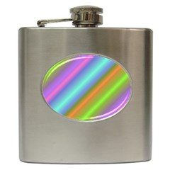Background Course Abstract Pattern Hip Flask (6 Oz)