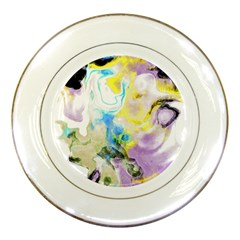Watercolour Watercolor Paint Ink Porcelain Plates