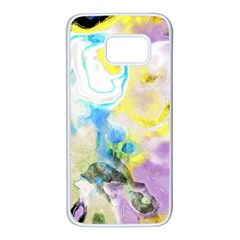 Watercolour Watercolor Paint Ink Samsung Galaxy S7 White Seamless Case