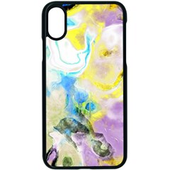 Watercolour Watercolor Paint Ink Apple Iphone X Seamless Case (black)