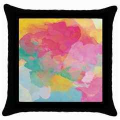 Watercolour Gradient Throw Pillow Case (black) by BangZart