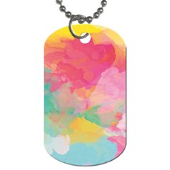 Watercolour Gradient Dog Tag (one Side)