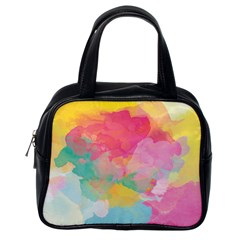 Watercolour Gradient Classic Handbags (one Side) by BangZart
