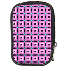 Pattern Pink Squares Square Texture Compact Camera Cases