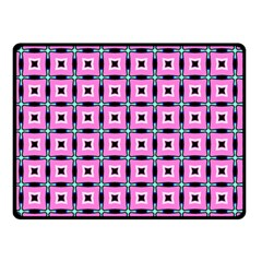 Pattern Pink Squares Square Texture Double Sided Fleece Blanket (small)