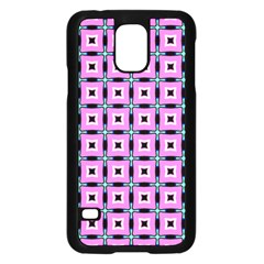 Pattern Pink Squares Square Texture Samsung Galaxy S5 Case (black) by BangZart