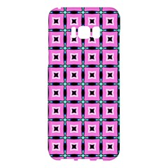 Pattern Pink Squares Square Texture Samsung Galaxy S8 Plus Hardshell Case