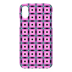 Pattern Pink Squares Square Texture Apple Iphone X Hardshell Case
