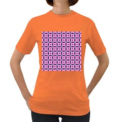 Pattern Pink Squares Square Texture Women s Dark T Shirt