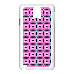 Pattern Pink Squares Square Texture Samsung Galaxy Note 3 N9005 Case (white)