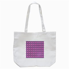 Pattern Pink Squares Square Texture Tote Bag (white) by BangZart