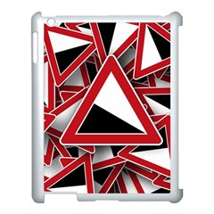 Road Sign Auto Gradient Down Below Apple Ipad 3/4 Case (white)
