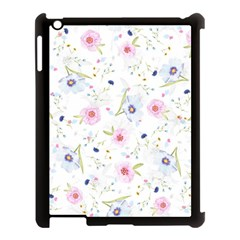 Floral Pattern Background Apple Ipad 3/4 Case (black)