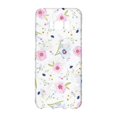 Floral Pattern Background Samsung Galaxy S8 Hardshell Case