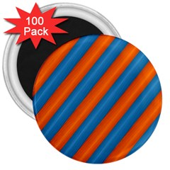 Diagonal Stripes Striped Lines 3  Magnets (100 Pack)
