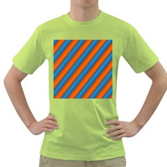 Diagonal Stripes Striped Lines Green T-shirt