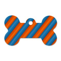 Diagonal Stripes Striped Lines Dog Tag Bone (one Side)