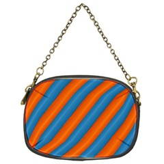 Diagonal Stripes Striped Lines Chain Purses (one Side)  by BangZart