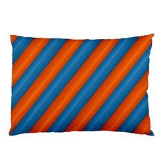 Diagonal Stripes Striped Lines Pillow Case by BangZart