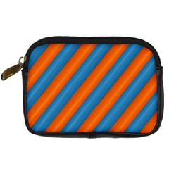 Diagonal Stripes Striped Lines Digital Camera Cases by BangZart