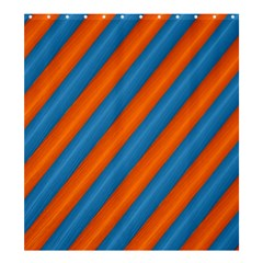 Diagonal Stripes Striped Lines Shower Curtain 66  X 72  (large)