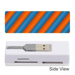 Diagonal Stripes Striped Lines Memory Card Reader (stick)