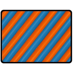 Diagonal Stripes Striped Lines Double Sided Fleece Blanket (large)