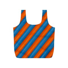 Diagonal Stripes Striped Lines Full Print Recycle Bags (s)  by BangZart