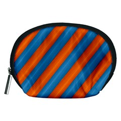 Diagonal Stripes Striped Lines Accessory Pouches (medium)  by BangZart
