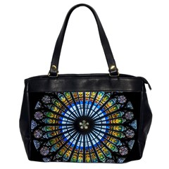 Rose Window Strasbourg Cathedral Office Handbags (2 Sides)  by BangZart