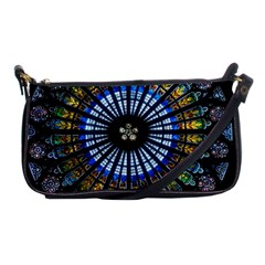 Rose Window Strasbourg Cathedral Shoulder Clutch Bags by BangZart