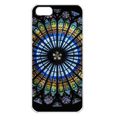 Rose Window Strasbourg Cathedral Apple Iphone 5 Seamless Case (white) by BangZart