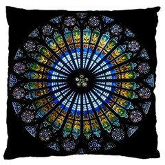 Rose Window Strasbourg Cathedral Standard Flano Cushion Case (one Side)