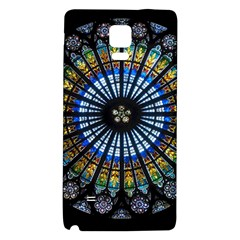 Rose Window Strasbourg Cathedral Galaxy Note 4 Back Case by BangZart