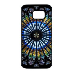 Rose Window Strasbourg Cathedral Samsung Galaxy S7 Edge Black Seamless Case by BangZart