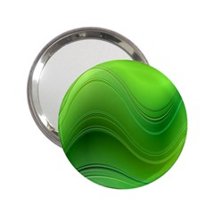 Green Wave Background Abstract 2 25  Handbag Mirrors