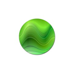 Green Wave Background Abstract Golf Ball Marker (4 Pack)