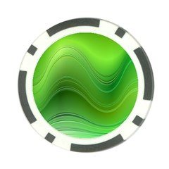 Green Wave Background Abstract Poker Chip Card Guard