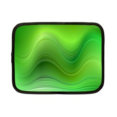 Green Wave Background Abstract Netbook Case (small)  by BangZart
