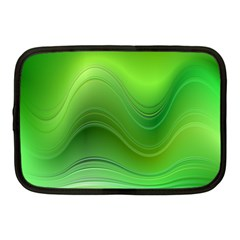 Green Wave Background Abstract Netbook Case (medium)  by BangZart