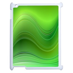 Green Wave Background Abstract Apple Ipad 2 Case (white) by BangZart
