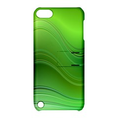 Green Wave Background Abstract Apple Ipod Touch 5 Hardshell Case With Stand by BangZart