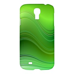 Green Wave Background Abstract Samsung Galaxy S4 I9500/i9505 Hardshell Case
