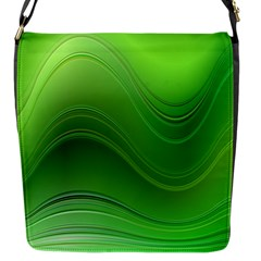 Green Wave Background Abstract Flap Messenger Bag (s)